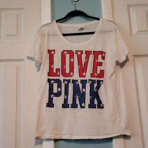 VS PINk short sleeve top.  Oversized small.